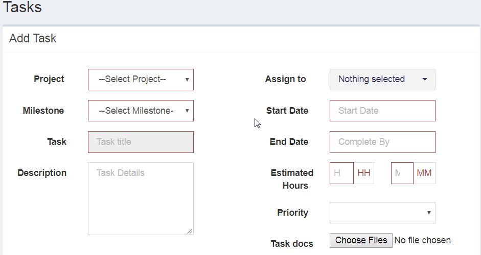How to assign task to project teams