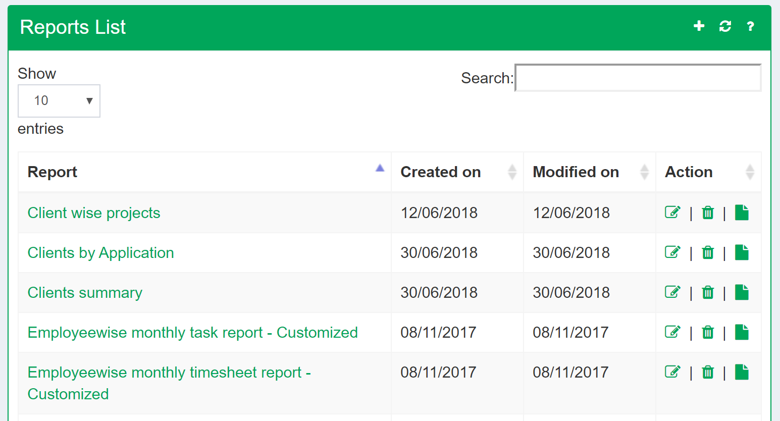 Check project management reports