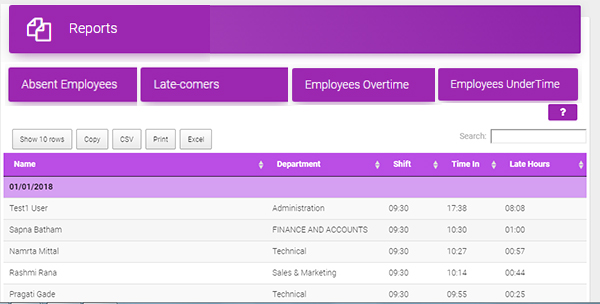 Employee time record management  with top attendance tracking software