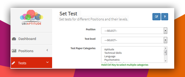 Set Test in Online Assessment Software